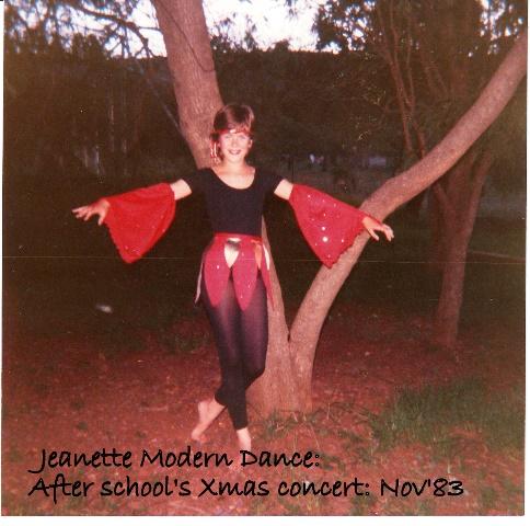 After Care concert- J modern dancing- Nov 83
